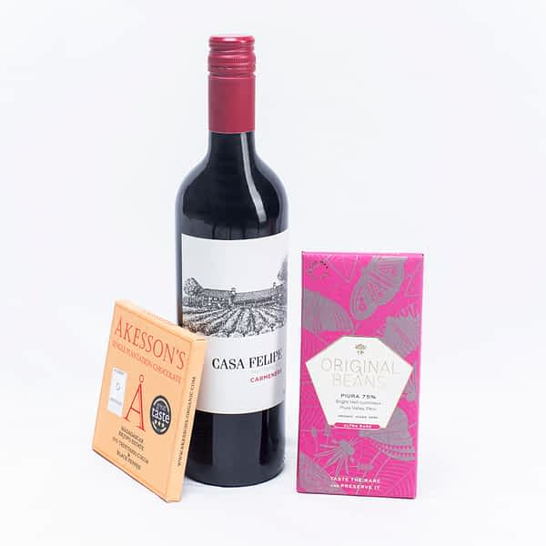 Chocolate & Wine Gift: Casa Felipe Carmenere & Dark Chocolate