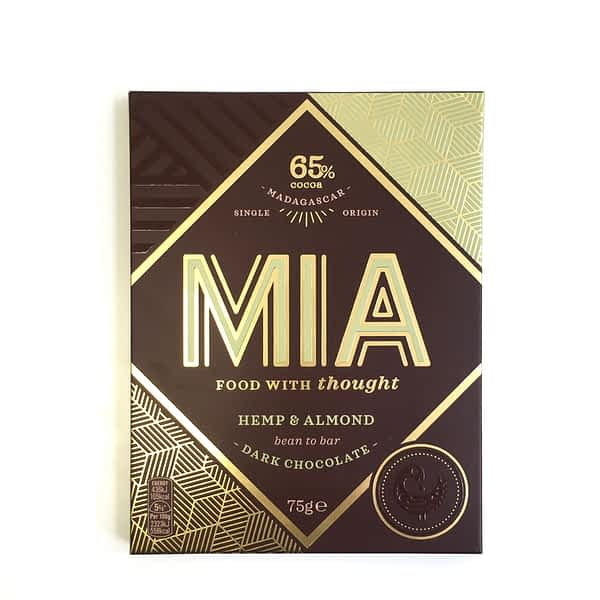 MIA - 65% Dark Chocolate with Hemp & Almond (Carton of 10)