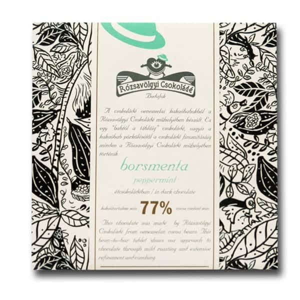 Rózsavölgyi Csokoládé - Dark Chocolate 73% with Peppermint (Carton of 10)