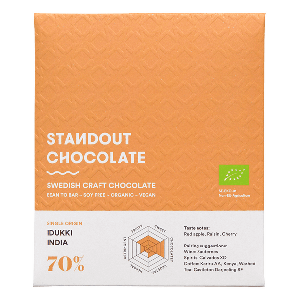 Standout Chocolate - India, Idukki 70% Dark Chocolate