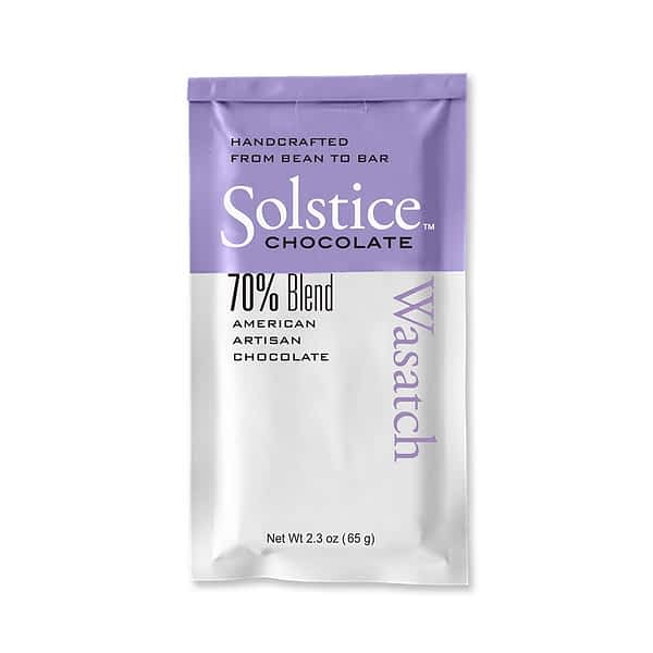 Solstice - Wasatch Blend Bar 70% Dark Chocolate