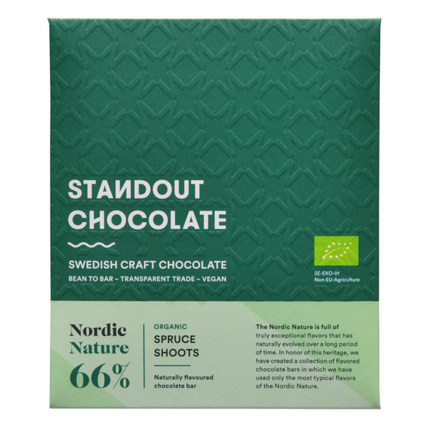 "Standout Chocolate - ""Nordic Nature"" Spruce Shoots 63%"