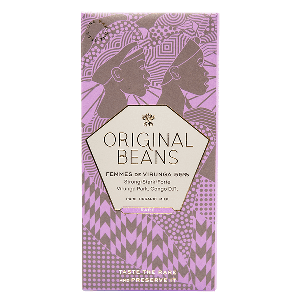 Original Beans - Femmes de Virunga 55% Milk (Carton of 13)