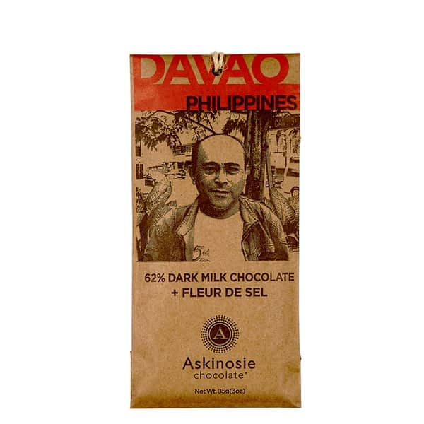 Askinosie Davao Dark Goat Milk Chocolate + Sea Salt