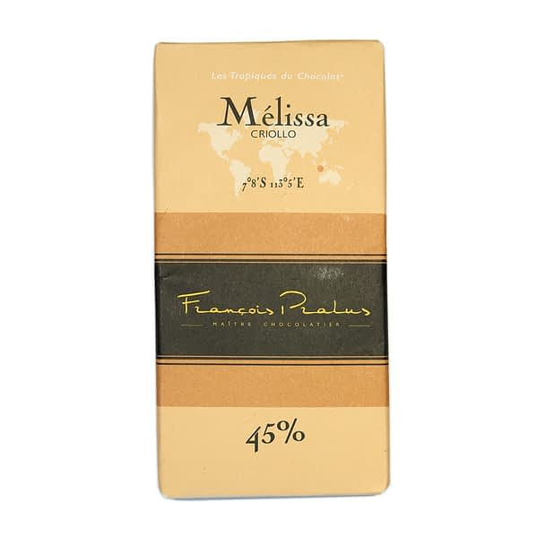 François Pralus - Mélissa 45% Chocolate Bar with Milk