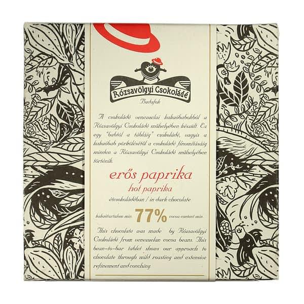 Rózsavölgyi Csokoládé - Dark Chocolate 73% with Hot Paprika (Carton of 10)