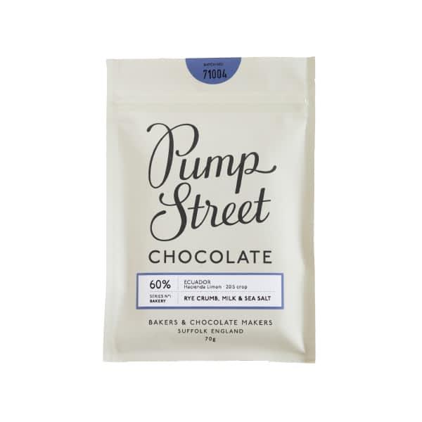 Pump Street Chocolate - Rye Crumb, Milk & Sea Salt 60% (Carton of 10)