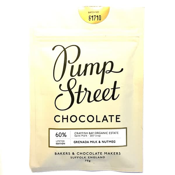 Pump Street Chocolate - Grenada Milk & Nutmeg Chocolate
