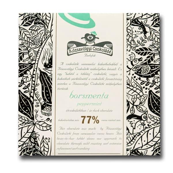Rózsavölgyi Csokoládé - Dark Chocolate 73% with Peppermint (Carton of 10)