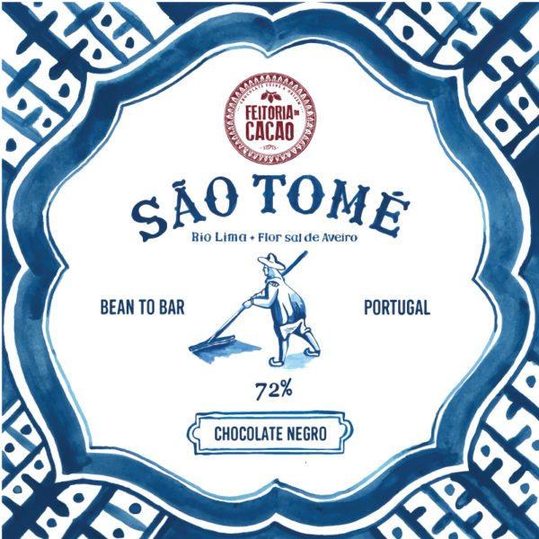 Feitoria do Cacao -São Tomé 72% + Flor de Sal