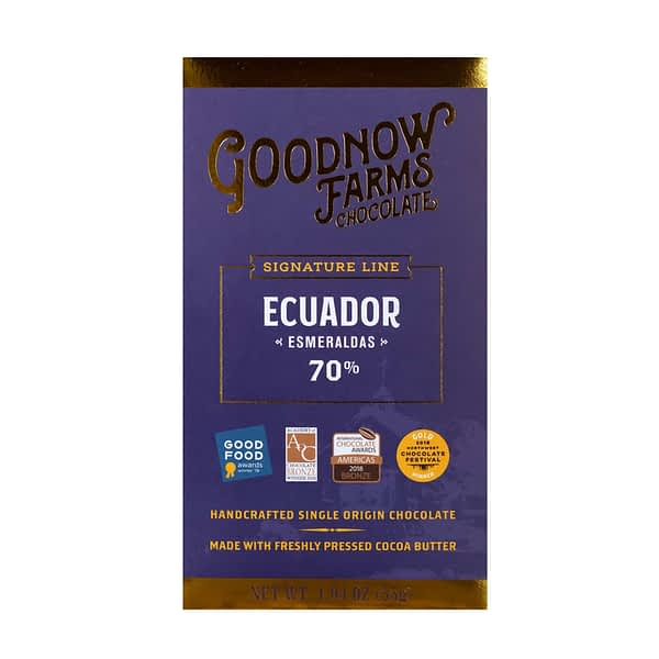 Goodnow Farms Chocolate - Esmeraldas, Ecuador 70%