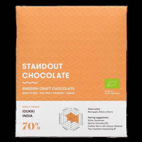 Standout Chocolate - India, Idukki 70% Dark Chocolate