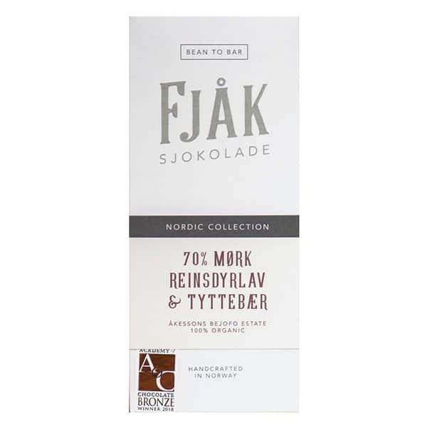 Fjak - Reindeer Moss & Lingonberry 70% Dark
