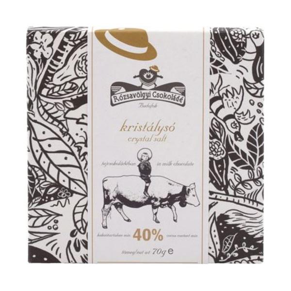 Rózsavölgyi Csokoládé - Himalayan Crystal Salt 40% Dark Milk
