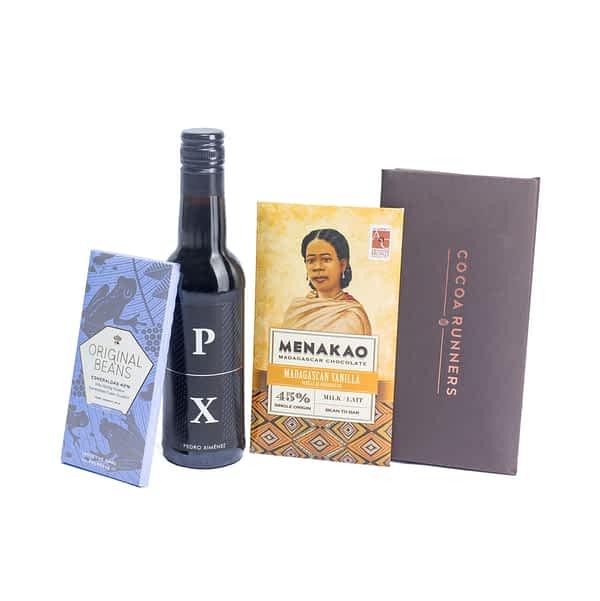 Wine & Chocolate Gift: Pedro Ximénez Sherry & Milk Chocolate