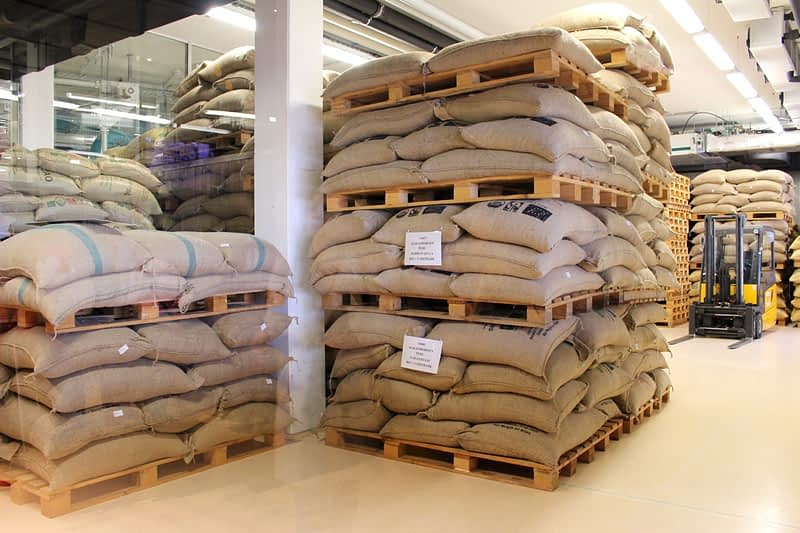 Part of the cocoa bean store. Zotter use 350-400 tons of beans per year.