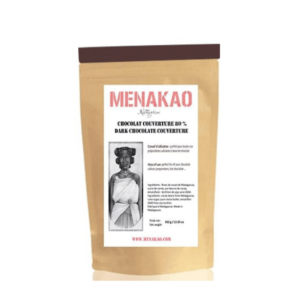 Menakao - Dark Chocolate 80% Couverture 2.5kg