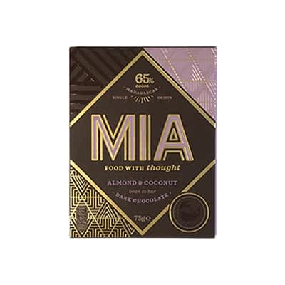 MIA - 65% Dark Chocolate with Almond and Coconut (Carton of 10)