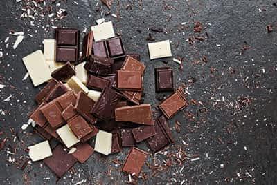 Milk and dark chocolate