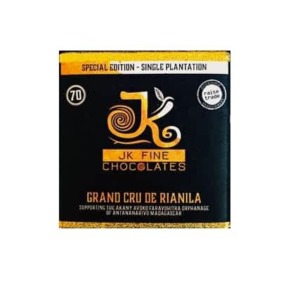 JK Fine Chocolates - Grand Cru De Rianila, Madagascar 70% Dark Chocolate