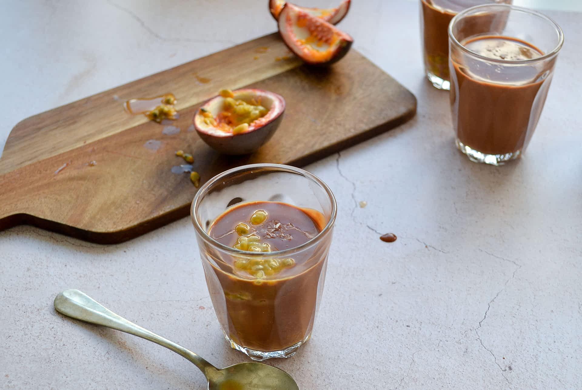 Chocolate & Passion Fruit Pots
