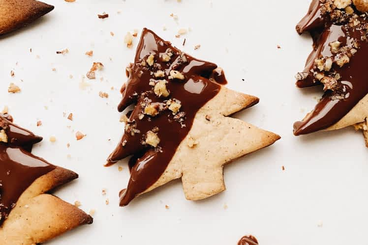 Chocolate Dipped Christmas Biscuits