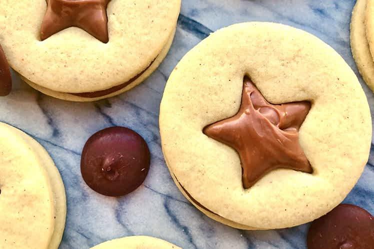 Star Biscuits with Milk Chocolate Ganache