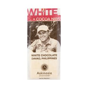 Askinosie, White Chocolate & Cocoa Nibs