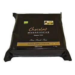 Chocolat Madagascar 100% Couverture 1kg