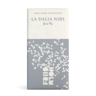 Friis Holm - La Dalia 60% Lazy Cocoa Growers Blend with Cocoa Nibs