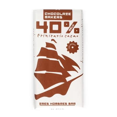 Chocolate Makers Tres Hombres 40% With Sea Salt
