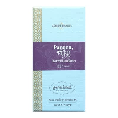 French Broad Chocolates - Limited Release Pangoa, Peru 83% Dark Chocolate