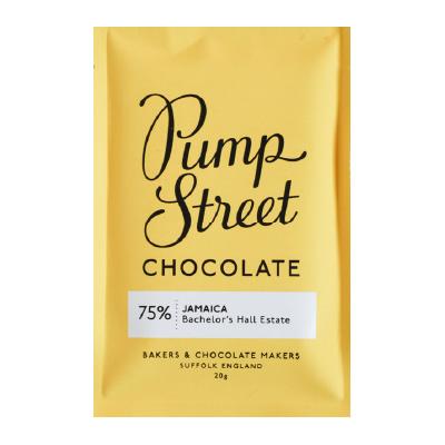 Pump Street Chocolate - Jamaica Dark Chocolate Taster Bar (Carton of 20)