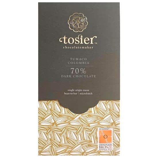 Tosier Chocolate - Colombia, Tumaco Estate 70% Dark