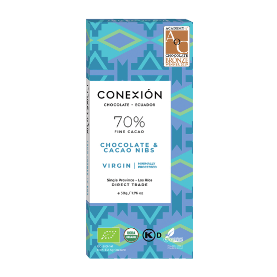 Conexion - Virgin Dark 70% with Cacao Nibs, Apovinces