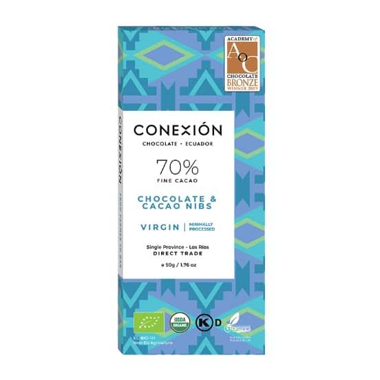 Conexion - Virgin Dark 70% with Cacao Nibs, Apovinces