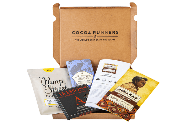 Monthly craft chocolate subscription