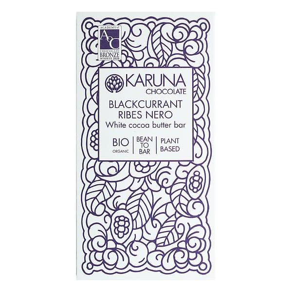 Karuna - White Chocolate with Blackcurrants