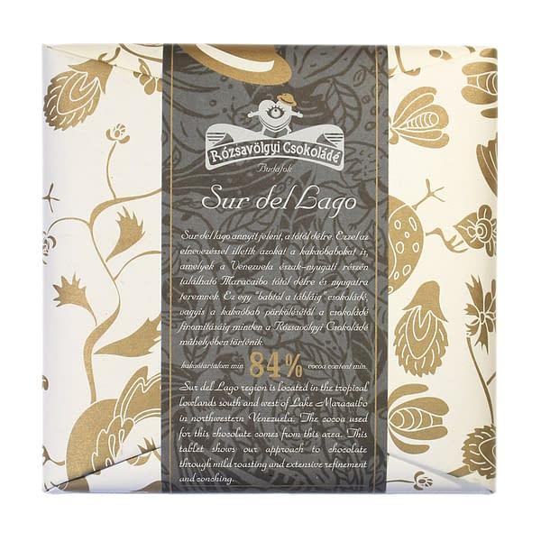 Rózsavölgyi Csokoládé - Sur Del Lago 84%