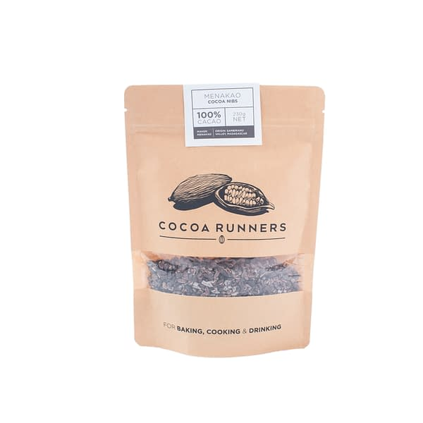 Cocoa Runners Madagascan Roasted Cocoa Nibs - 230g bag
