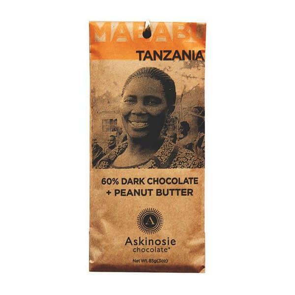 Askinosie - Mababu, Tanzania 60% Dark with Peanut Butter