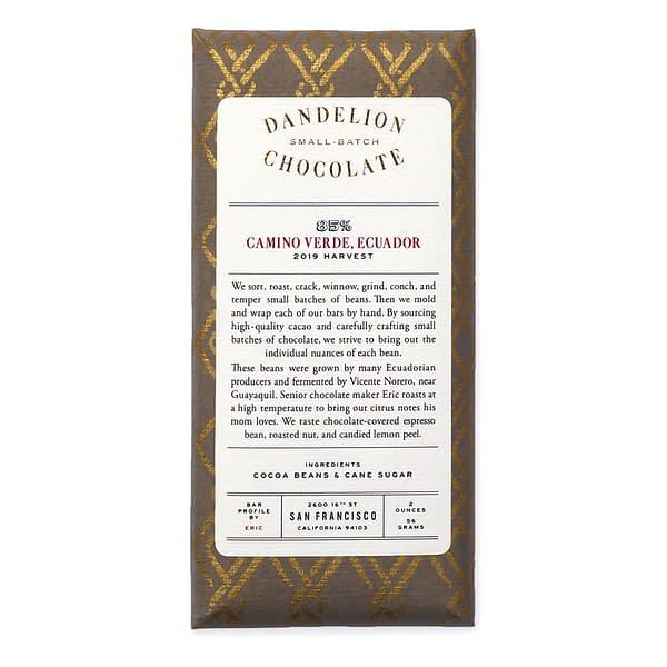 Dandelion - Camino Verde, Ecuador 85% Dark