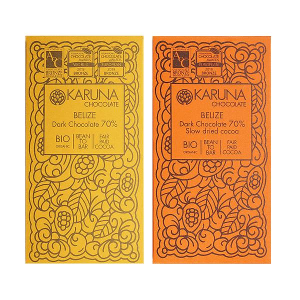 Compare the Drying - Karuna Belize 70% Dark