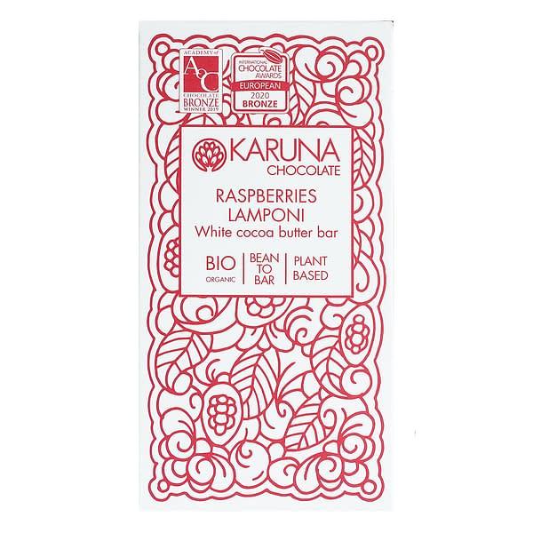 Karuna - White Chocolate with Raspberries