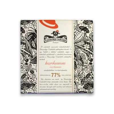 Rózsavölgyi Csokoládé - Dark Chocolate 73% with Cardamom