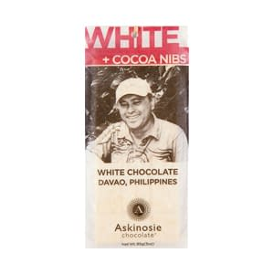 Askinosie, White Chocolate & Cocoa Nibs