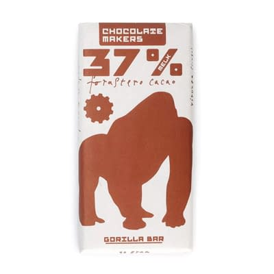 Chocolate Makers Gorilla Bar 37% Milk Chocolate