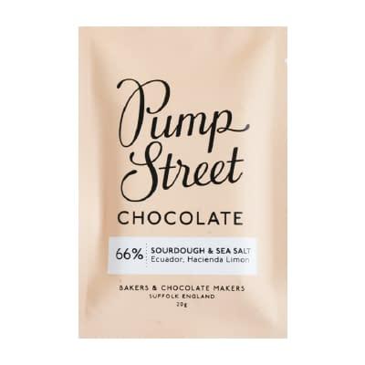 Pump Street Chocolate - Sourdough and Sea Salt Taster Bar (Carton of 20)